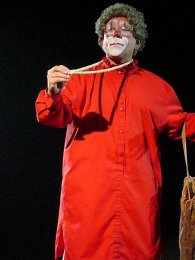 Barry Lubin as Grandma the Clown, with the Big Apple Circus