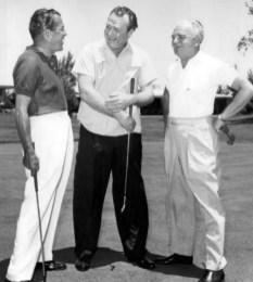 Ed Sullivan, Red Skelton, Wilbur Clark at the Desert Inn in Las Vegas, 1959