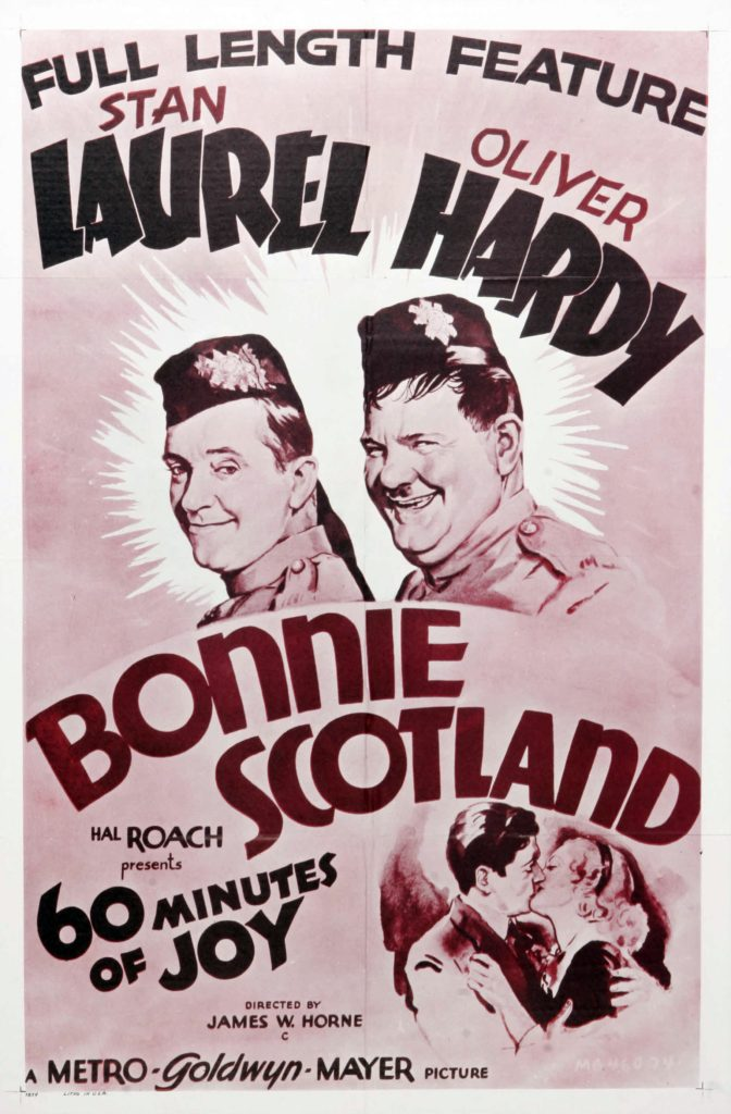 Bonnie Scotland (1935) starring Stan Laurel, Oliver Hardy, James Finlayson