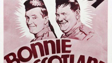 Bonnie Scotland (1935) starring Stan Laurel, Oliver Hardy, James Finlayson