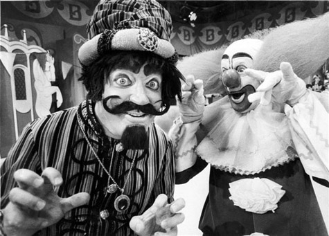 Wizzo and Bozo in 1978