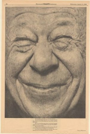 Smiling face of Bert Lahr
