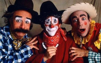 Big Apple Circus clowns - Mr. Fish, Grandma the Clown and Oaf