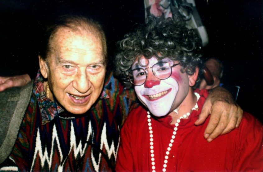 Comedian Henny Youngman and Grandma the Clown (Barry Lubin)