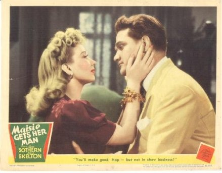 Publicity photo from Maisie Gets Her Man, starring Ann Sothern and Red Skelton