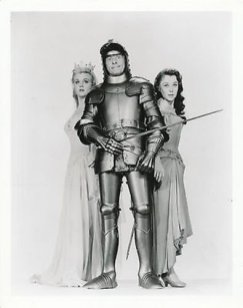 Publicity photo from The Court Jester, with the beautiful Angela Lansbury on Dannys left, and the equally beautiful Glynis Johns to his right