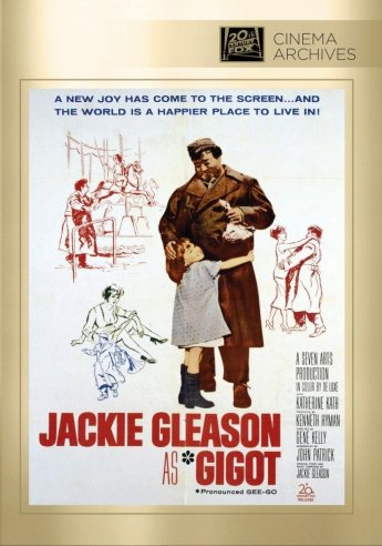 """DVD cover of """"Gigot"""" starring Jackie Gleason, in a Chaplinesque performance"""