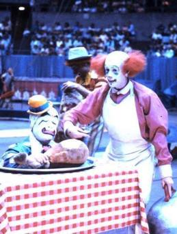 Wayne Sidley and ICHOF Inductee Prince Paul Alpert, in the Ringling Brothers circus in the 1970's