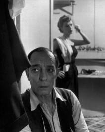 An older Buster Keaton in foreground