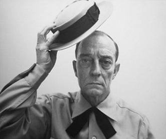 Buster Keaton tipping his hat