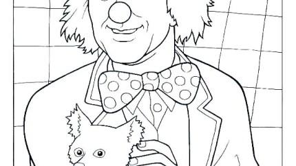 Oleg Popov coloring page