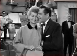 I Love Lucy - Lucy's Last Birthday - as Desi sings the I Love Lucy theme, an iconic pose