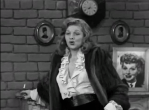 Lucy Fakes an Illness - Lucy imitating Tallulah Bankhead