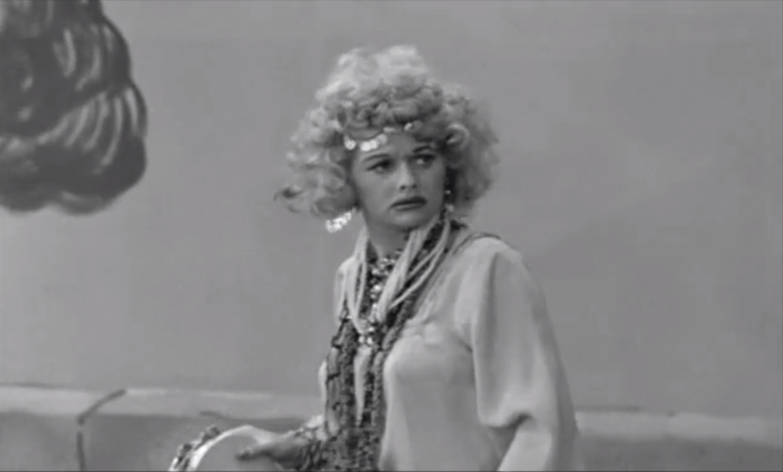 The Operetta - I Love Lucy - close up of Lucy as the Gypsy Queen