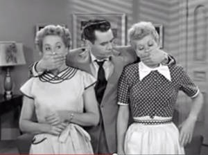 The Ricardos Change Apartments - Ricky stops Ethel and Lucy from talking