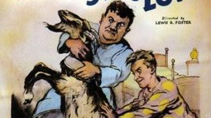 "Angora Love - Laurel and Hardy's final silent film for Hal Roach, where they're ""adopted"" by a goat that nearly gets them evicted"
