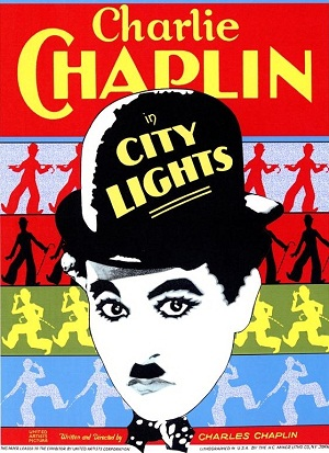 Color poster of Charlie Chaplin for City Lights