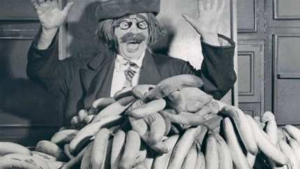 The Banana Man, Adolph Proper, who performed under the name A. Robbins