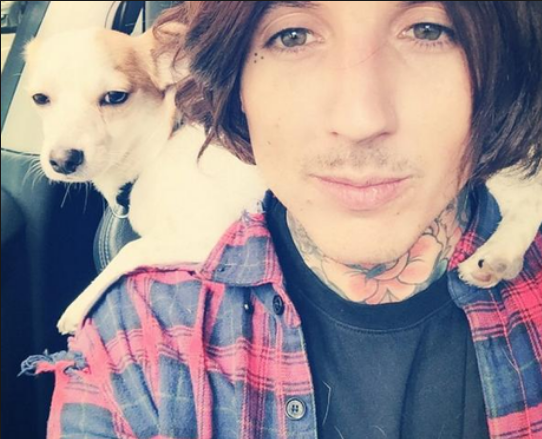 Oliver Sykes & his Dog