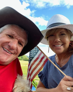 Caryn Chandler with her partner Mark Roloff