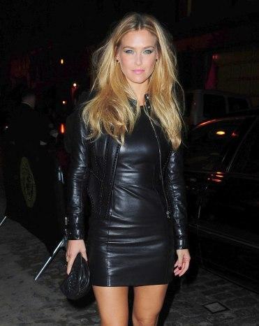 Bar Refaelli - Leather Mini Dress