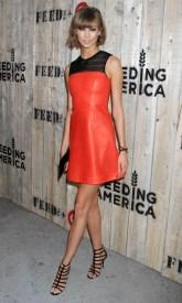 Karlie Kloss - Leather Mini Dress