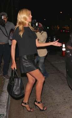 Heidi Klum - Leather Mini Skirt