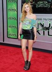 Bella Thorne - Leather Mini Skirt