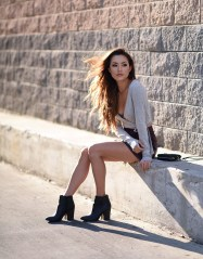 Hapatime - Leather Mini Skirt