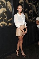Nicole Trunfio - Leather Mini Skirt