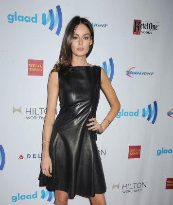 Nicole Trunfio - Leather Mini Dress