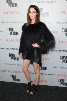 Nicole Trunfio - Leather Mini Skirt