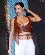 Adriana Lima - Leather Vest & Top