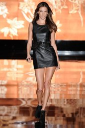 Alessandra Ambrosio - Leather Mini Skirt