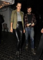Alessandra Ambrosio - Leather Pants