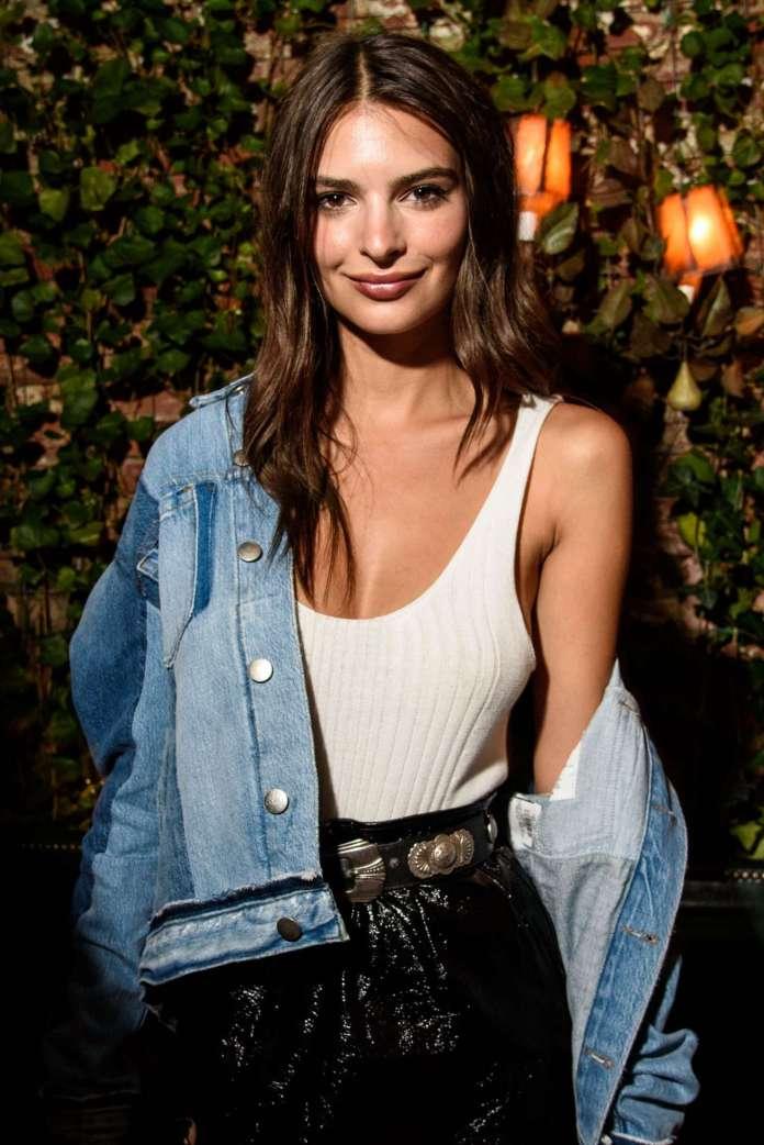 Emily Ratajkowski - Leather Mini Skirt