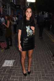 Lucy Watson - Leather Mini Skirt