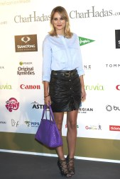 Alba Carrillo - Leather Mini Skirt