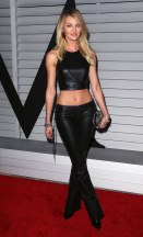 Candice Swanepoel - Leather Top & Pants