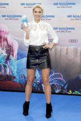 Lena Gercke . Leather Mini Skirt