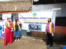 Lions Club Menengai comes to the aid of vulnerable girls