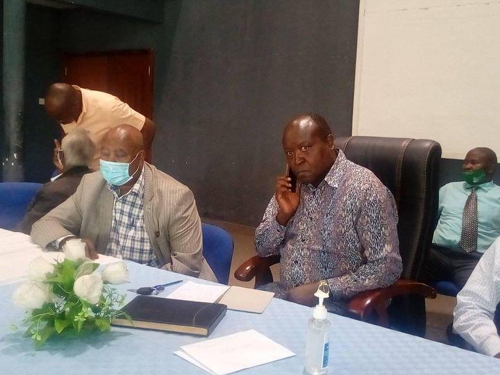 Nakuru Town West MP Samuel Arama during a meeting a t Nakuru West Secondary school.PHOTO/Pristone Mambili.