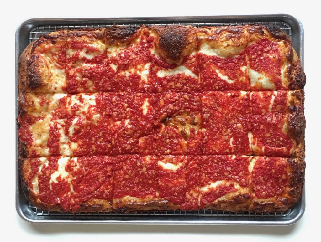 Sunday Square Sicilian pizza