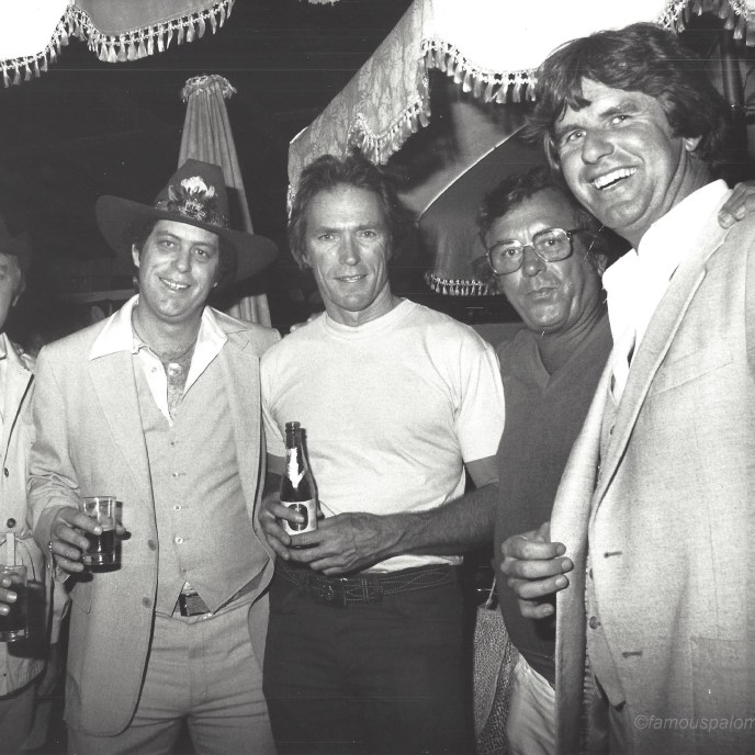 This was taken around the time of Every Which Way But Loose.  It is a picture of Tommy Thomas, Clint Eastwood, and friends