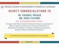 Hearty Congratulations to