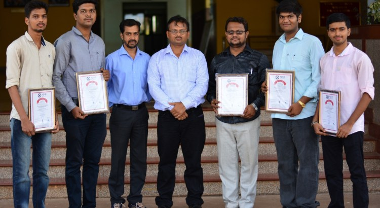 Photo of patent team with HOD n Principal