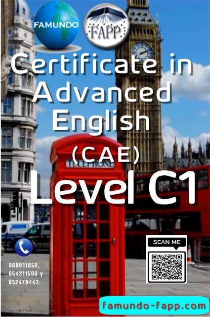Certificate in Advanced English (CAE).
