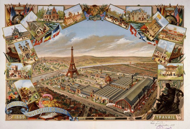 View of Exposition Universelle (Universal Exhibition), Paris, France, 1889.