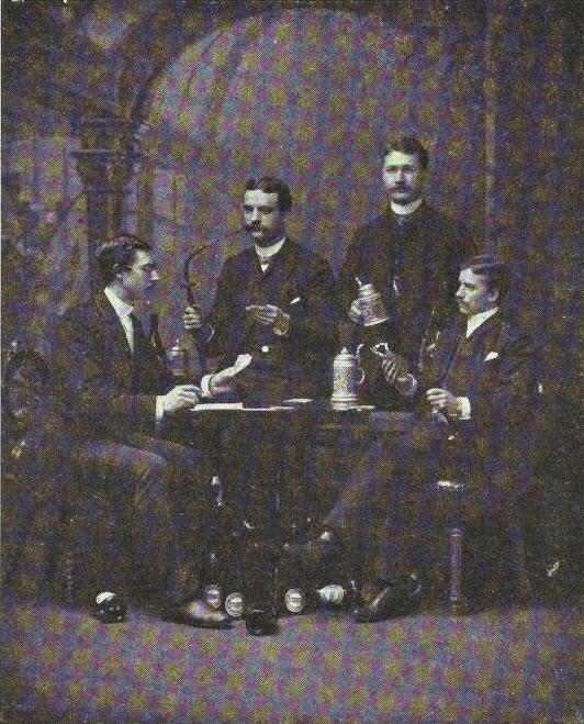 1900 - Men drinking the leading beer at the time Heineken's Gerste I