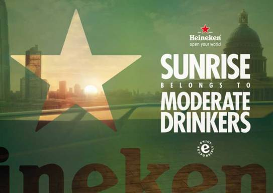 Sunrise belongs to moderate drinkers